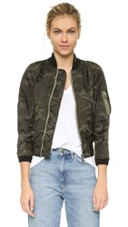 Nlst Shrunken Spring Flight Jacket Camo