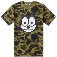 A Bathing Ape X Felix The Cat 1St Camo Tee Green