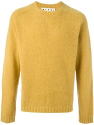 Marni Crew Neck Jumper Yellow And Orange