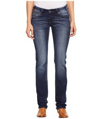 Rock And Roll Cowgirl Rival Straight Leg In Dark Vintage W61381s Dark Vintage Women's Jeans Navy