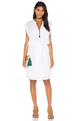 Lanston Sleevelees Shirt Dress White