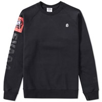 Billionaire Boys Club Eva Patch Raglan Crew Neck Black