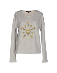 Annarita N. Topwear Sweatshirts Women Light Grey
