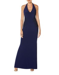 Laundry By Shelli Segal Embellished Halter Gown Midnight