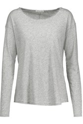 Rag And Bone Slacker Cotton Jersey Top Gray