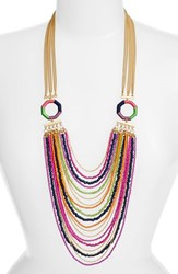 Women's Trina Turk Layered Bead And Chain Necklace