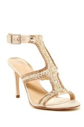 Imagine Vince Camuto Price Beaded T Strap Sandal White