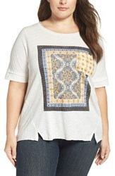 Democracy Plus Size Women's Back Tie Graphic Tee