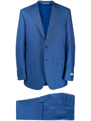 Canali Classic Two Piece Suit Blue
