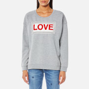 Maison Scotch Women's Love Sweatshirt Grey Melange