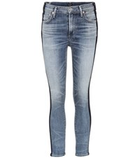 Citizens Of Humanity Rocket Crop High Waisted Skinny Jeans Blue