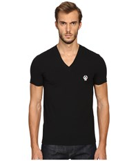 Dolce And Gabbana Deep V Neck T Shirt Black