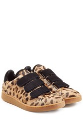 Jerome Dreyfuss Pony Hair And Suede Sneakers Animal Prints