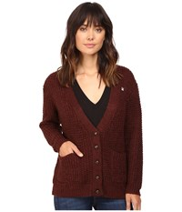 Obey Barnette Cardigan Raisin Women's Sweater Brown