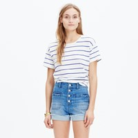 Madewell High Rise Denim Shorts Button Front Edition