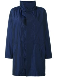 Plantation High Collar Raincoat Blue