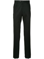 Gieves And Hawkes Straight Leg Trousers Black