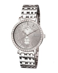 Versus By Versace Manhasset Round 42Mm Lion Dial Women's Watch Silver