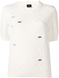 Paul Smith Ps White Knit Top