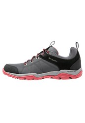 Columbia Fire Venture Walking Shoes Graphite Sunset Red Grey
