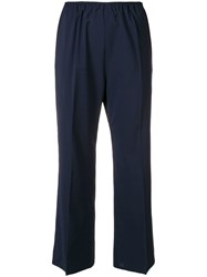 Sofie D'hoore Creased Cropped Trousers Blue