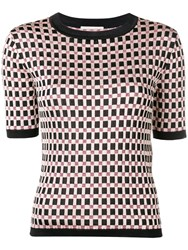 Marco De Vincenzo Patterned Knitted Top Black