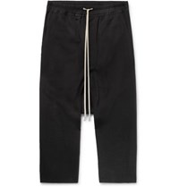 Rick Owens Wool Crepe Drawstring Trousers Black