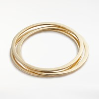 And Or Triple Hammered Bangle Gold