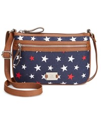 Styleandco. Style And Co. Passport Crossbody Only At Macy's Blue Stars