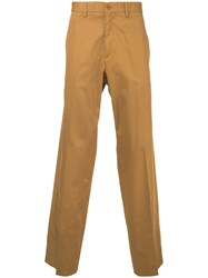 Stella Mccartney Chino Trousers Men Cotton 46 Yellow Orange