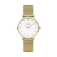 Cluse Minuit Mesh Watch Gold