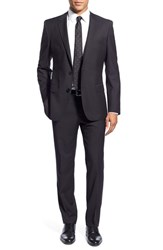 Men's Boss 'Huge Genius' Trim Fit Solid Wool Suit