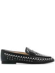 Tod's Studded Double T Loafers Black