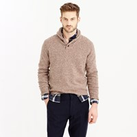 J.Crew Marled Lambswool Shawl Collar Sweater