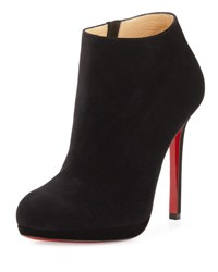 Christian Louboutin Bella Suede 120Mm Red Sole Boot Black