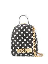 Moschino Polka Dot Backpack Black
