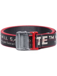 Off White Industrial Logo Belt Metallic