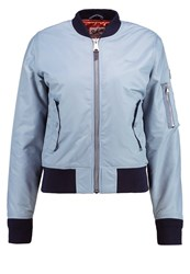 Schott Nyc Bomber Jacket Ice Blue Light Blue