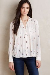 Maeve Apres Ski Buttondown Neutral Motif
