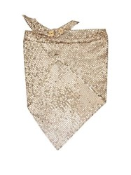 Paco Rabanne Crystal Embellished Chainmail Mesh Triangle Scarf Gold