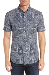 Reyn Spooner Aloha Bandana Regular Fit Sport Shirt Blue