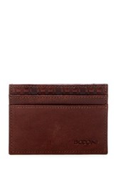 Boconi Boris Leather Cash Stash Brown