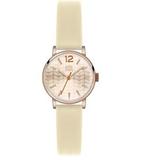 Orla Kiely Ok2012 Frankie Leather And Stainless Steel Watch Rose Gold