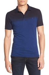 French Connection 'Wembley' Slim Fit Dip Dye Polo Blue Depths Marine Blue