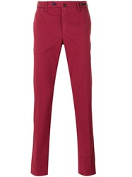 Pt01 Slim Fit Chino Trousers Red