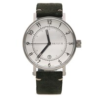 Bravur Watches Bw001 Silver White Dial Watch