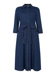 Lost Ink Longsleeve Denim Shirt Dress Denim