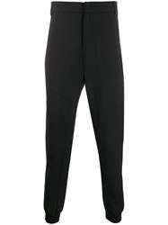 Les Hommes Gathered Ankle Trousers Black
