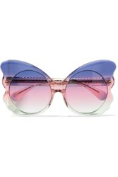 Matthew Williamson Cat Eye Acetate Sunglasses Purple