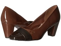 Soft Style Mabry Mid Brown Patent Gunmetal Vitello Women's 1 2 Inch Heel Shoes